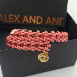 NWT Alex and Ani Gypsy 66 wrap dusty rose